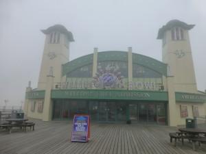 Wellington Pier: a bowling alley
